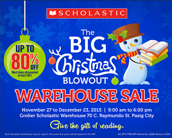 Scholastic Christmas Warehouse Sale