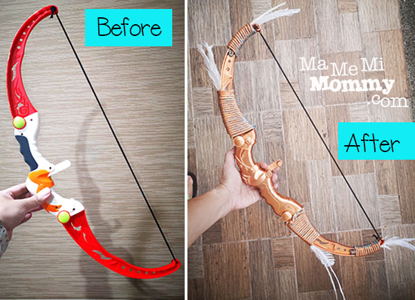 Before and after of bow