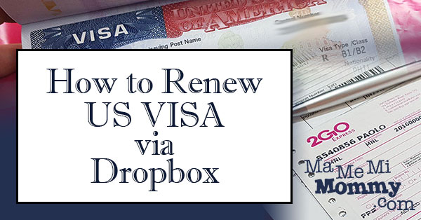 Renew US Visa via Dropbox